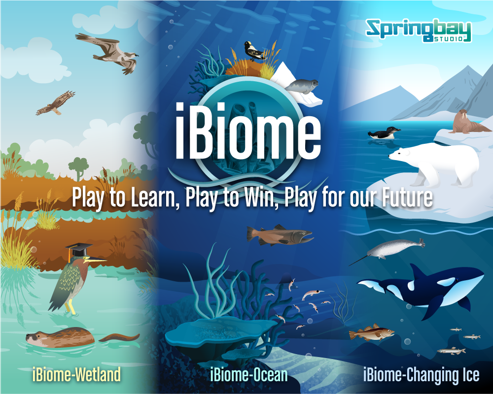 iBiome Logo: Science games